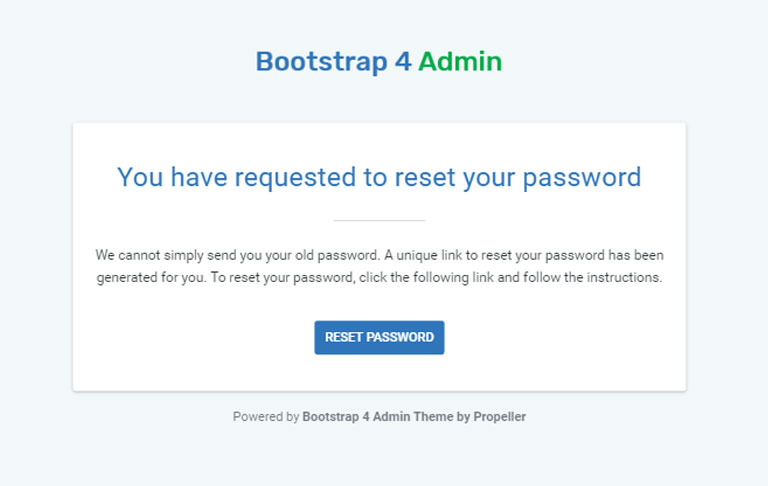 Bootstrap 4 Admin Html Theme Email Templates